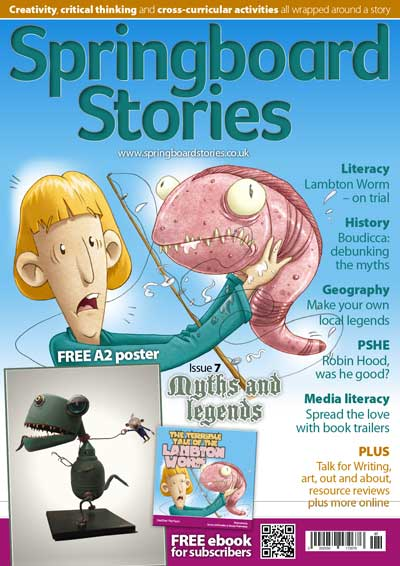 Myths and legends topic magazine and posters
