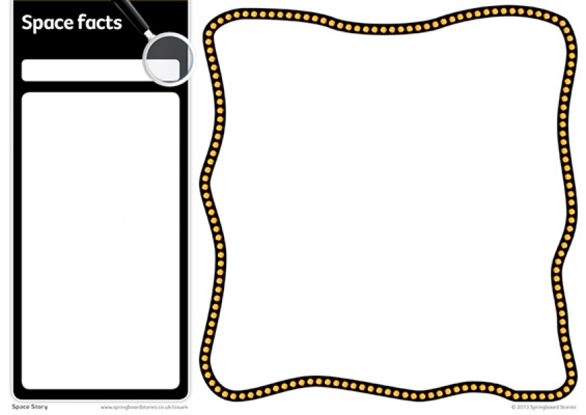 Space fact card template