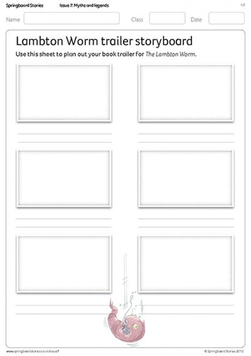 Book trailer storyboard primary resource