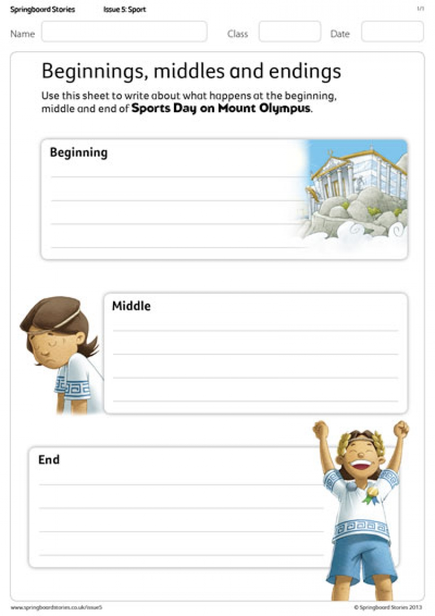 Beginning, middle and ends primary literacy resource