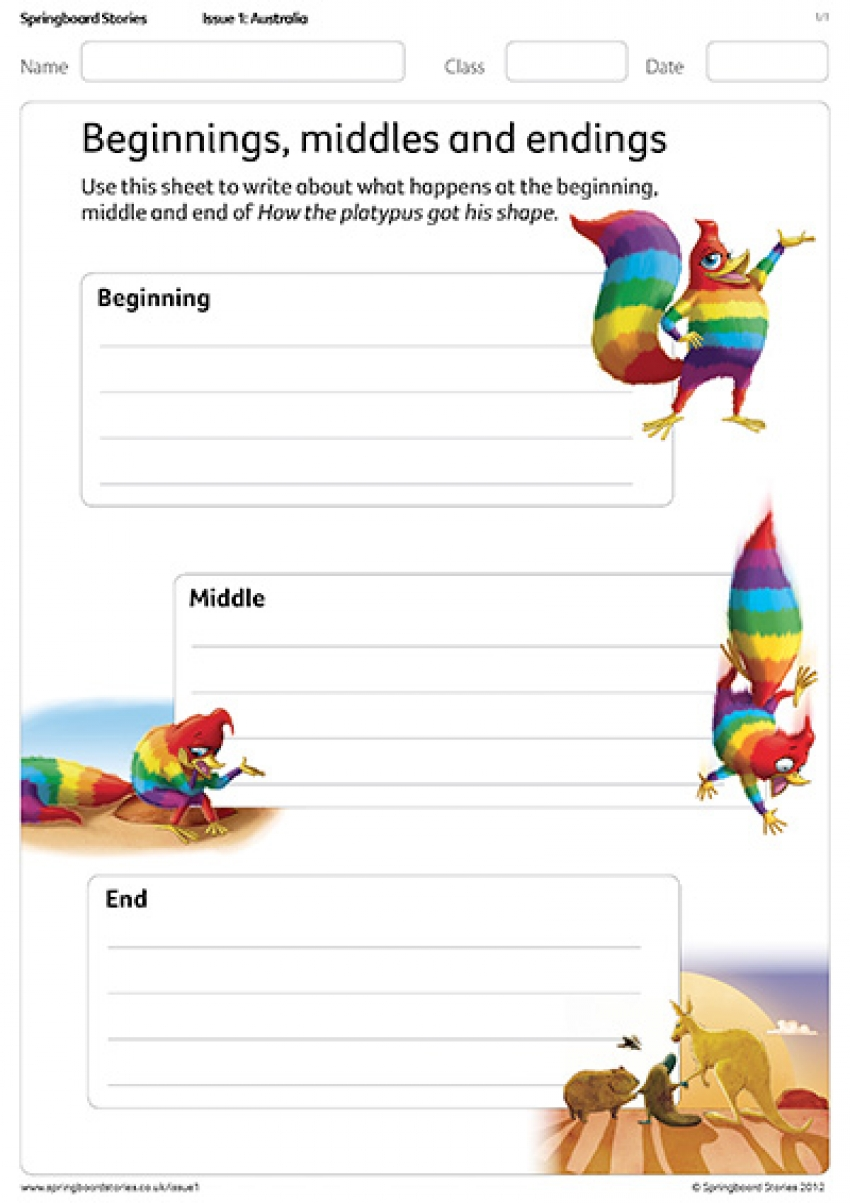 Beginnings, middles and endings – How the platypus got his shape – primary resource
