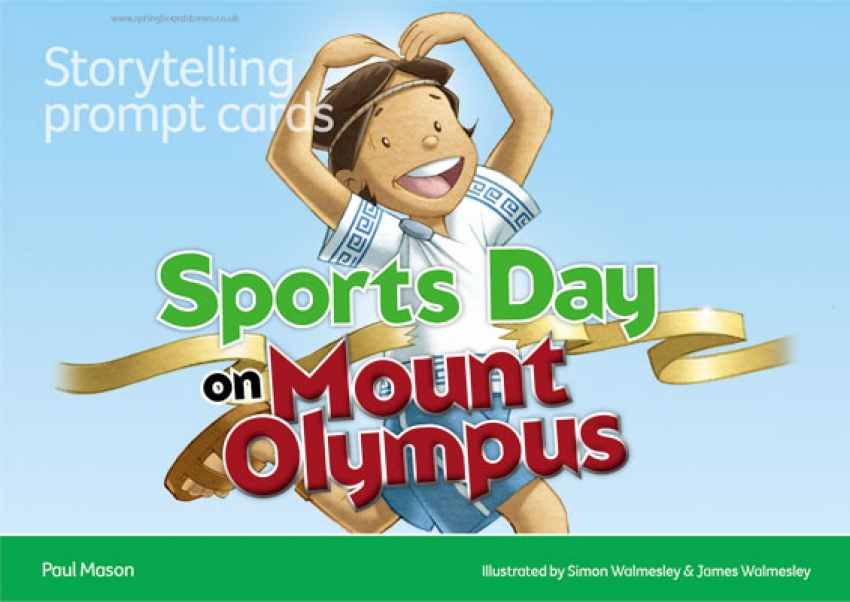 Sports Day on Mount Olympus storytelling prompt cards