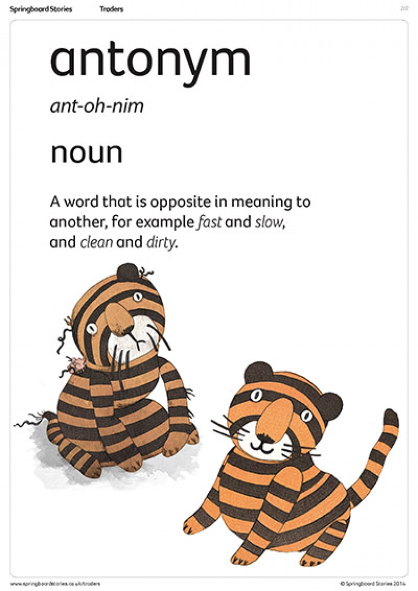Synonym and antonym poster