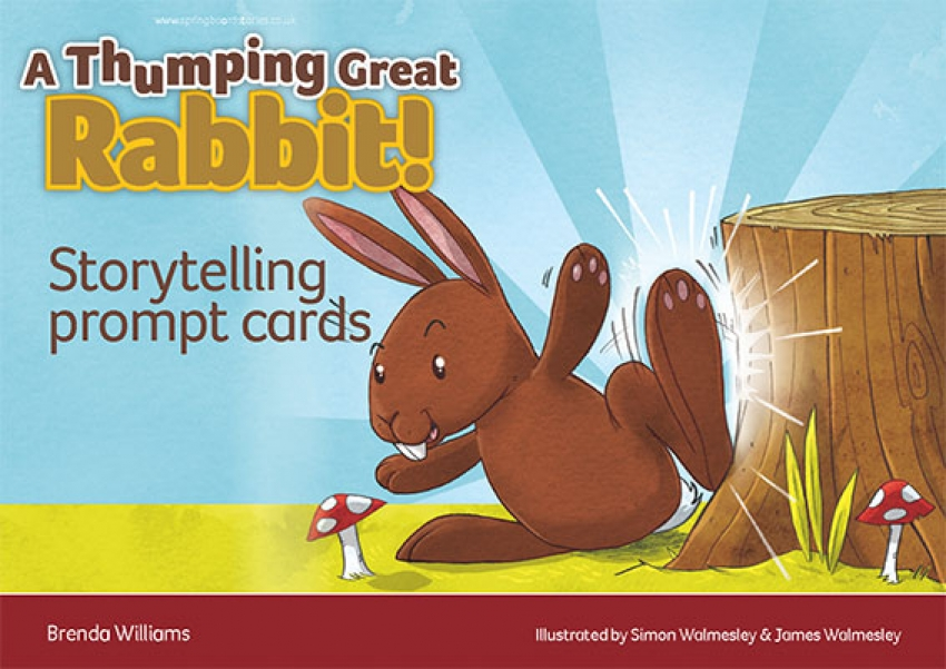 A thumping great rabbit storytelling prompt cards primary resource