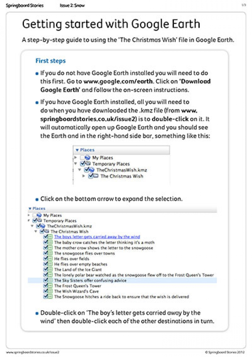 Google Earth tour file instructions