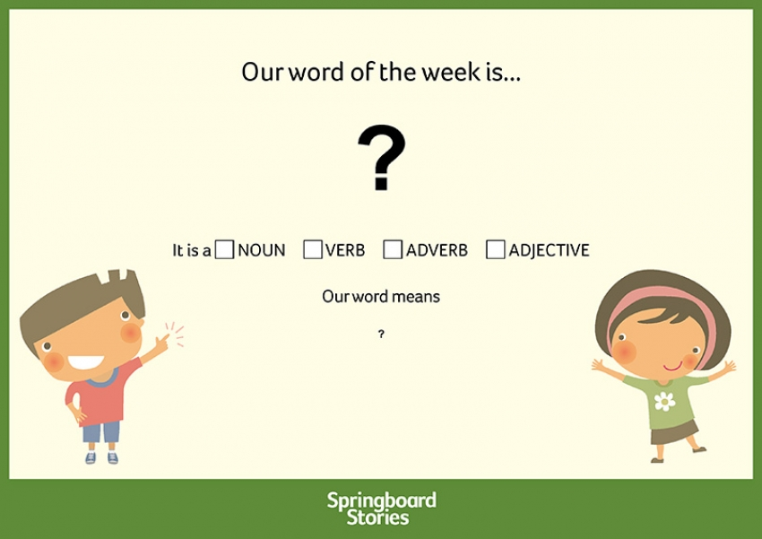 Word of the week resource for primary-aged children