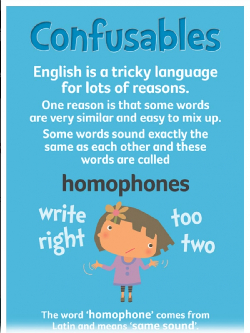 Homophone infographic