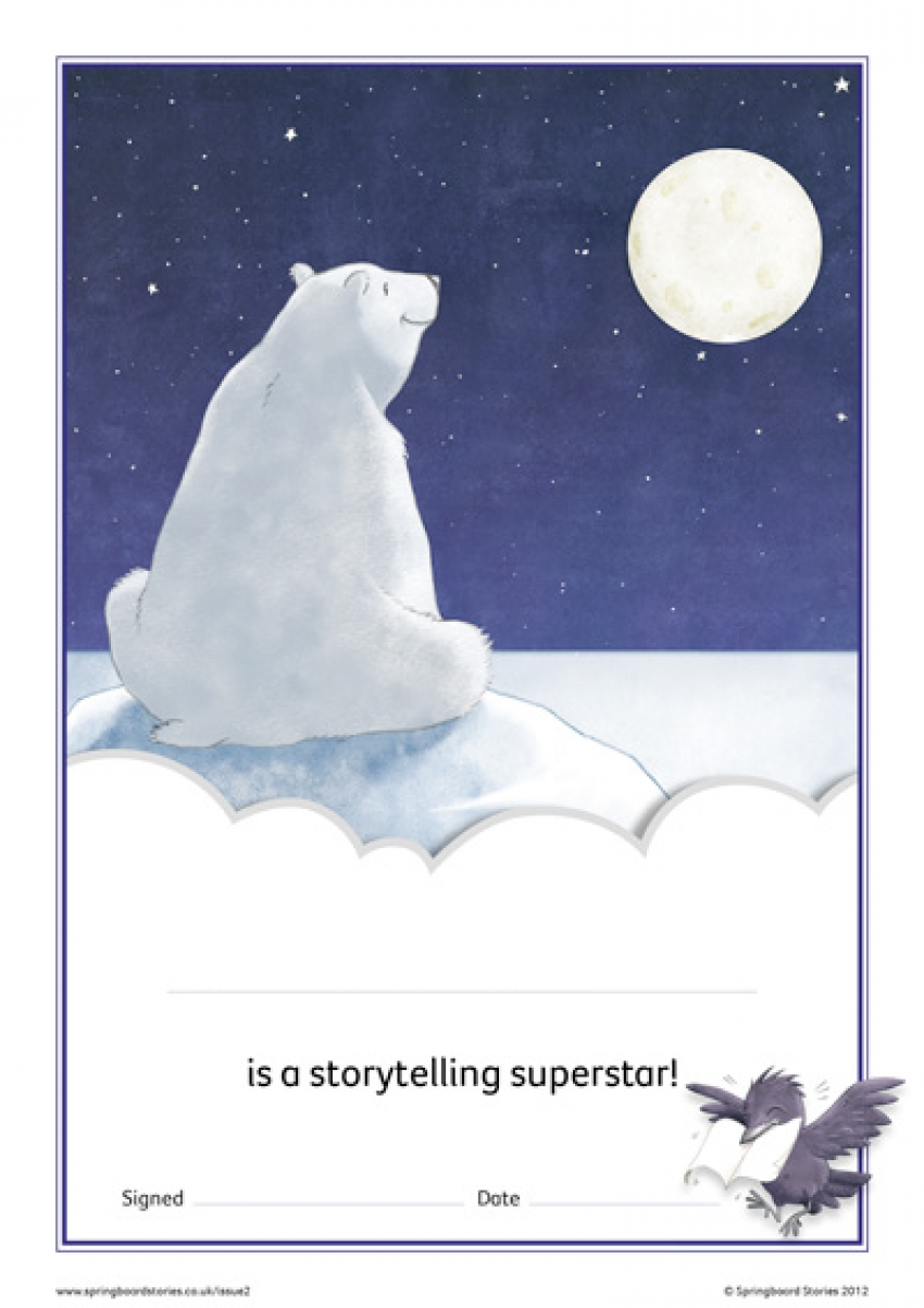 Snow storytelling certificate – EY and KS1