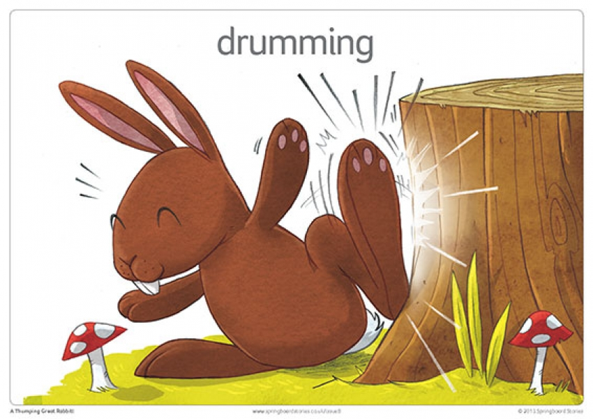 A thumping great rabbit storytelling prompt cards primary resource – keywords