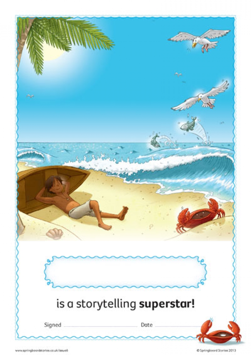 Sea storytelling certificate – EY and KS1