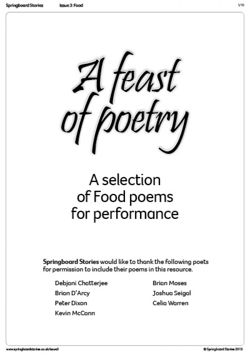 Feast of poetry anthology