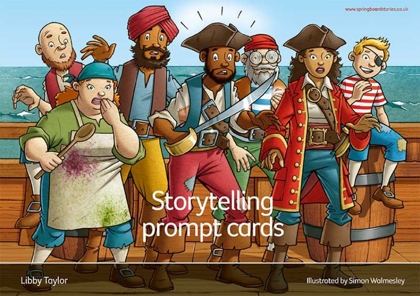 Ferdinand Forest and the pirate pickle storytelling prompts cards