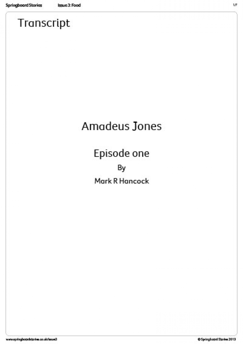 Transcript - Amadeus Jones radio play 2