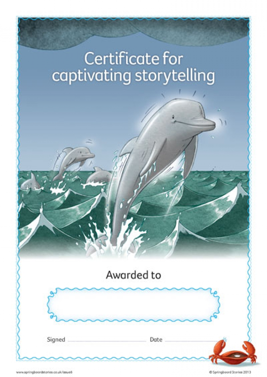 Sea storytelling certificate – KS2