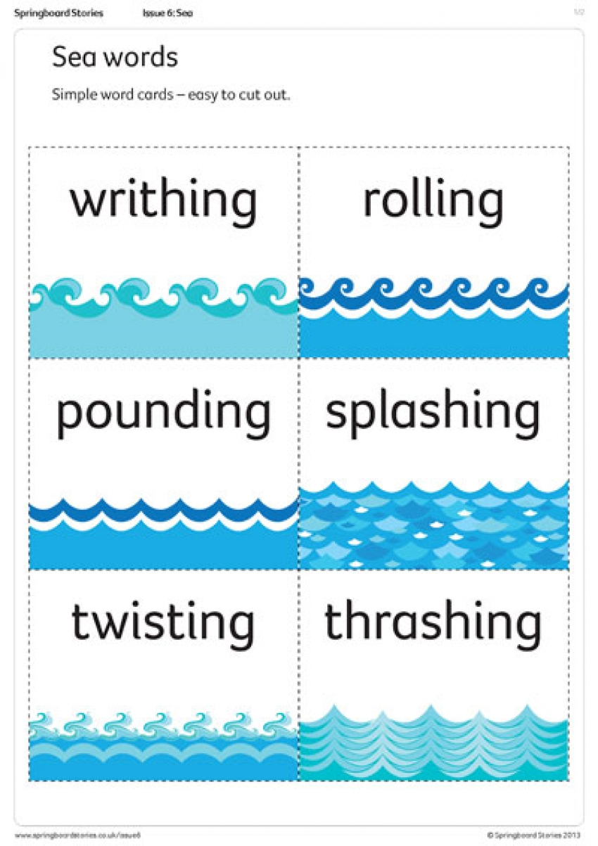 Sea words primary literacy resource