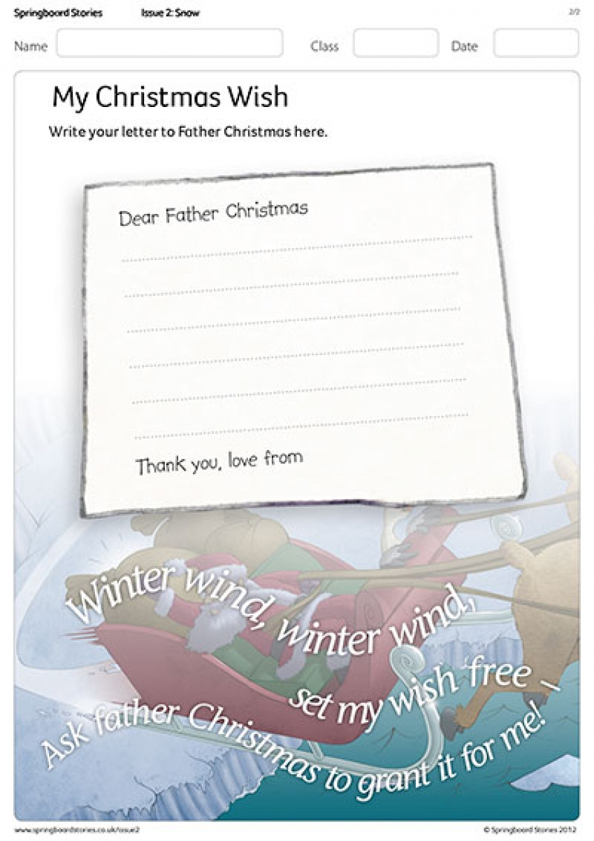 The Christmas Wish letter template